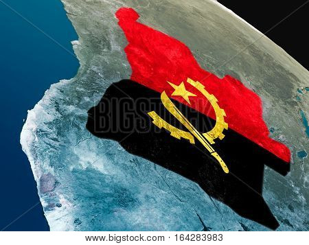 Flag Of Angola From Space