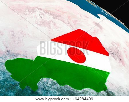 Flag Of Niger From Space