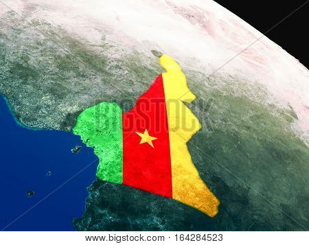 Flag Of Cameroon From Space