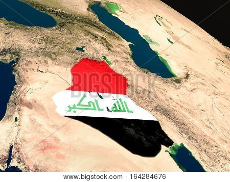 Flag Of Iraq From Space