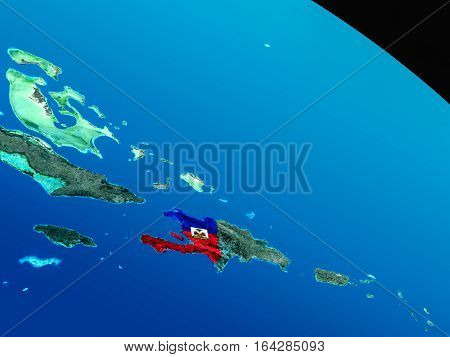 Flag Of Haiti From Space