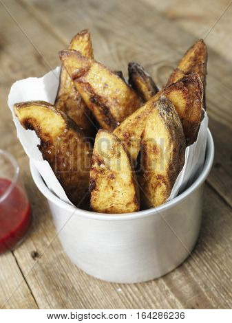 close up of rustic english potato chips