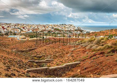 City Sidi Ifni In Morocco.