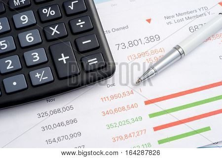 Worktable In The Office Calculator
