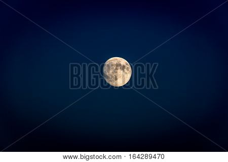 Picture of the Full moon on dark sky