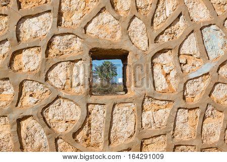 Wall In Sidi Ifni, Morocco