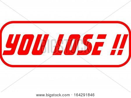 Lose illustration for gamer who lose the game