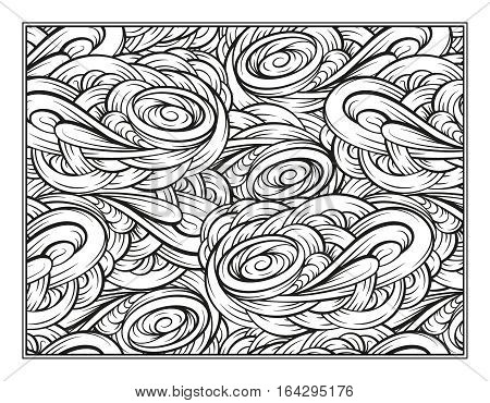 Vector abstract pattern page for antistress coloring