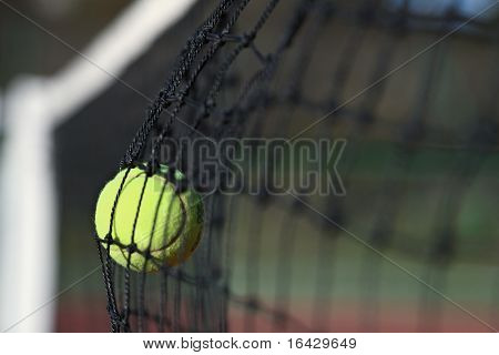 Unenforced error - Tennis ball in the net
