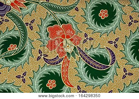 The beautiful of art Malaysian and Indonesian Batik Pattern. Batik industry is a mass production in Malaysia and Indonesia. poster