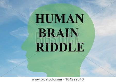 Human Brain Riddle Concept