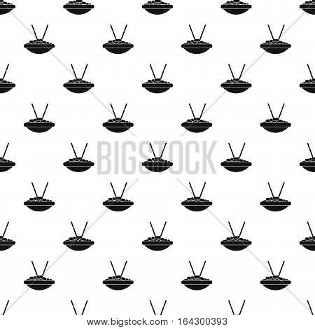 Bowl of rice with chopsticks pattern. Simple illustration of bowl of rice with chopsticks vector pattern for web