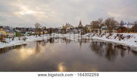 The old provincial Russian city of Torzhok in winter