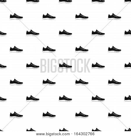 Sneakers pattern. Simple illustration of sneakers vector pattern for web