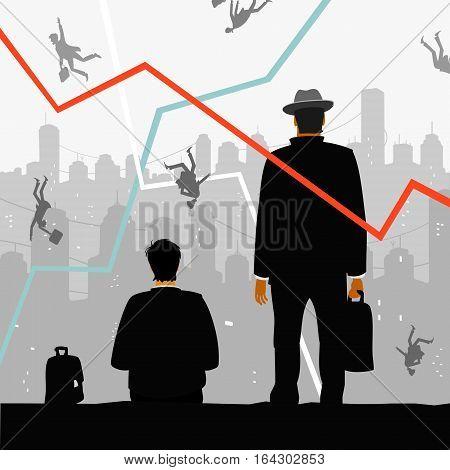 Financial Crisis Vector Illustration eps 8 file format