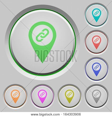 Attach GPS location color icons on sunk push buttons