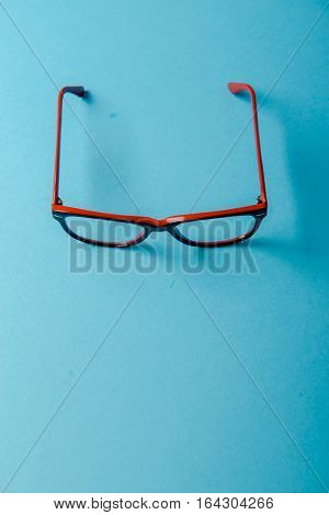 Pair Of Red Plastic-rimmed Eyeglasses