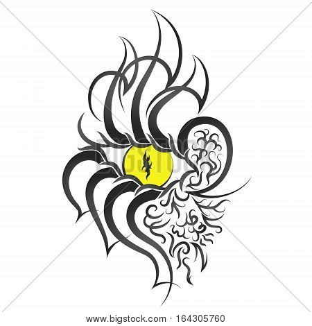 Eye pattern tattoo vector, abstraction for tattoo