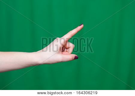 Hand Female Fingers Indicates