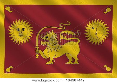 Flag of Sabaragamuwa Province is one of the nine provinces of Sri Lanka. 3d illustration