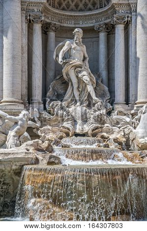 Italtya Rome. Trevi Fountain was built in the eighteenth century by architect Nicola Salvi in ​​the style of classical baroque. was built in the eighteenth century by architect Nicola Salvi in ​​the style of classical baroque.