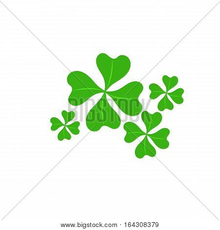 clover four leaf for saint patrick's day vector illustration isolated on white background Transparent objects used for shadows and lights drawing