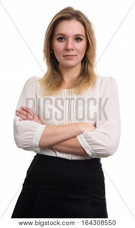 Confident Beautiful Woman With Her Arms Crossed