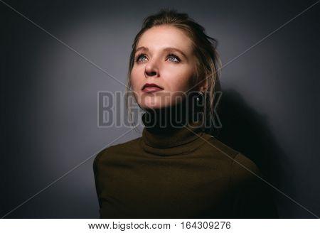 Close Up Portrait Of Pretty Girl