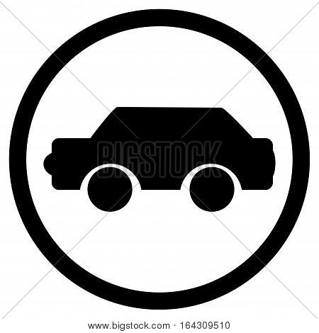 Car icon black. Vector car logo transportation icon illustraton