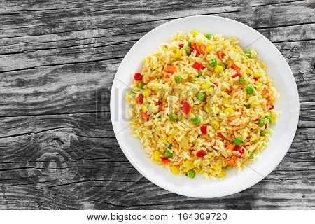 Sweet Corn, Red Bell Pepper, Green Peas Delicious  Healthy Risotto