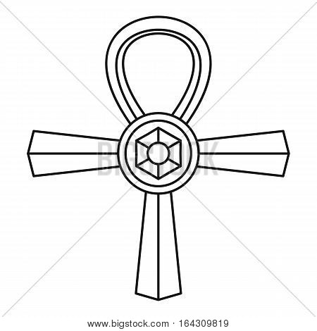 Ankh symbol icon. Outline illustration of Ankh symbol vector icon for web
