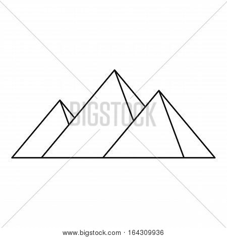 Pyramids of Egypt icon. Outline illustration of pyramids of Egypt vector icon for web