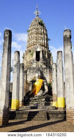 Main Approach To Sukhothai Temple World Heritage Vertical