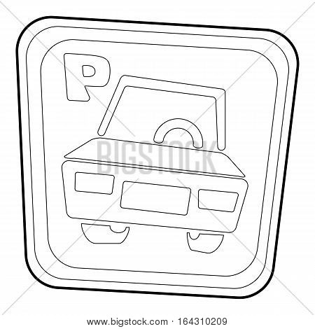 Car parking sign icon. Isometric 3d illustration of car parking sign vector icon for web