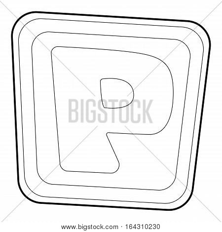 Parking road sign icon. Isometric 3d illustration of parking road sign vector icon for web