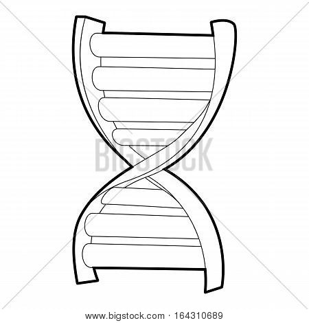 DNA strand icon. Isometric 3d illustration of DNA strand vector icon for web