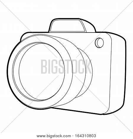 Camera icon. Isometric 3d illustration of camera vector icon for web