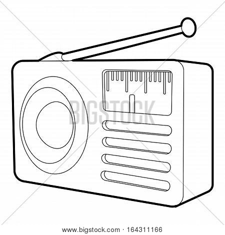 Retro radio receiver icon. Isometric 3d illustration of retro radio receiver vector icon for web
