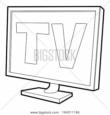 TV screen icon. Isometric 3d illustration of TV screen vector icon for web