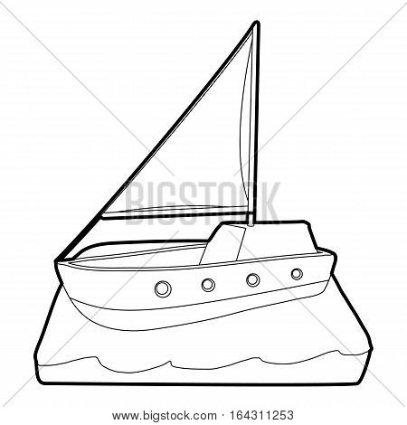 Yacht icon. Isometric 3d illustration of yacht vector icon for web