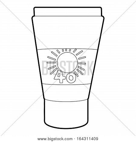 Tube with sunbathing cream icon. Isometric 3d illustration of tube with sunbathing cream vector icon for web