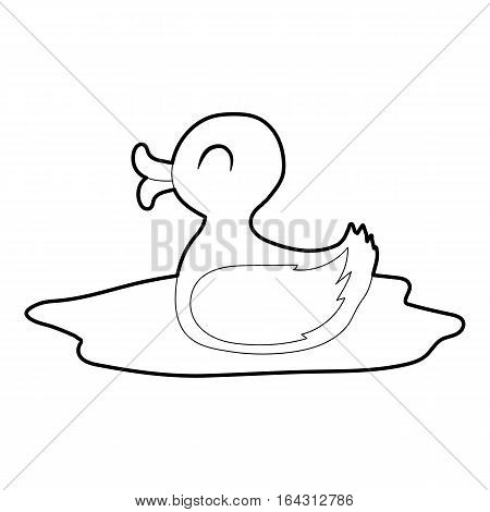 Duck icon. Isometric 3d illustration of duck vector icon for web
