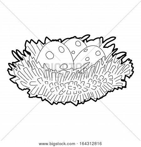Bird nest with eggs icon. Isometric 3d illustration of bird nest with eggs vector icon for web