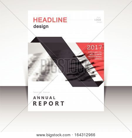 Business annual report brochure design vector illustration. Business presentation, poster, cover, booklet, banner, leaflet, flyer, newsletter, magazine, publication, landing page layout template