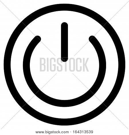 Button on to turn off. Black silhouette electric push icon. power start vector illustration