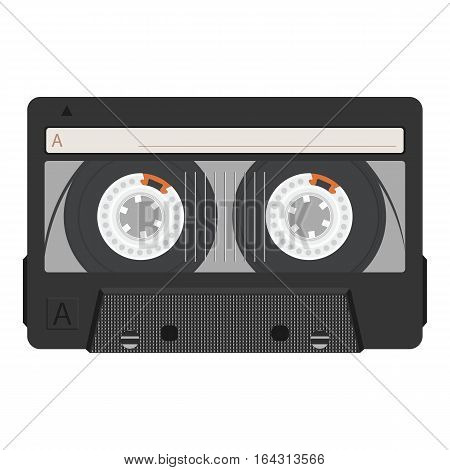 Vintage retro cassette tape. Realistic vector illustration.