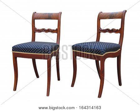 Antique Biedermeier Chair With Woor Carving