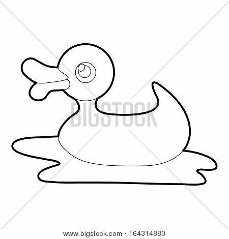 Duck toy icon. Isometric 3d illustration of duck toy vector icon for web