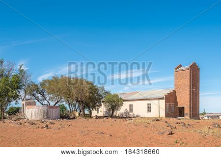 Historic United Reformed Church in Bolokanang in Petrusburg in the Free State Province of South Africa
