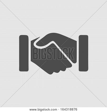 Handshake vector icon. Hands shaking symbol. Business deal symbol EPS 10.